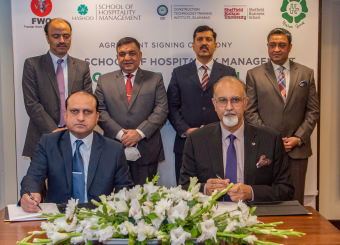 Hashoo Group has collaborated with Sheffield Hallam University & Business School for enabling foreign qualification to Pakistani students